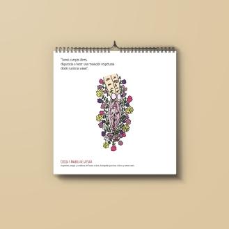 Ilustración y frase - JULIO